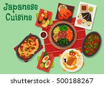 japanese cuisine icon with... | Shutterstock .eps vector #500188267