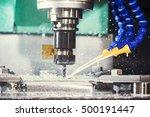 milling metalwork process. cnc... | Shutterstock . vector #500191447