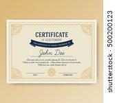 elegant certificate of... | Shutterstock .eps vector #500200123
