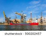 loading phosphate fertilizers... | Shutterstock . vector #500202457