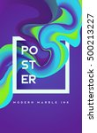 modern marble ink poster.... | Shutterstock .eps vector #500213227