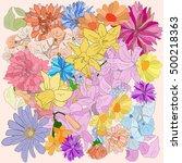 flowers color  | Shutterstock . vector #500218363