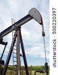 oil well in ayoluengo de la... | Shutterstock . vector #500220397