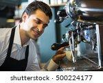 smiling professional male... | Shutterstock . vector #500224177
