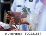 rescue team providing first aid ... | Shutterstock . vector #500231857