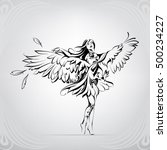 angel with eagle wings | Shutterstock .eps vector #500234227