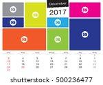 vector calendar december  2017... | Shutterstock .eps vector #500236477