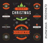 christmas labels and badges... | Shutterstock .eps vector #500244673