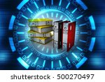 3d illustration of archive... | Shutterstock . vector #500270497