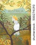 australian landscape  poster.  ... | Shutterstock .eps vector #500274193