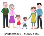 3 generation family of... | Shutterstock .eps vector #500275453