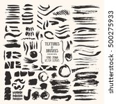 hand drawn vector brushes ... | Shutterstock .eps vector #500275933