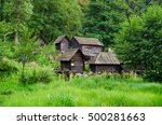 wooden water mills in jajce  ... | Shutterstock . vector #500281663