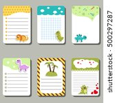 set of cute creative cards with ... | Shutterstock .eps vector #500297287