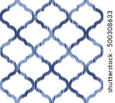 seamless moroccan ikat pattern | Shutterstock .eps vector #500308633