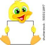 cute baby duck cartoon and... | Shutterstock .eps vector #500311897
