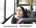 beautiful iranian muslim woman... | Shutterstock . vector #500330857