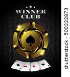 vector casino poker gold chip ...   Shutterstock .eps vector #500332873