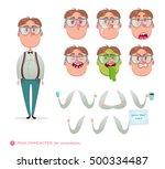 geek character for your scenes...   Shutterstock .eps vector #500334487