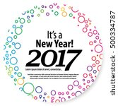 happy new year 2017 layout... | Shutterstock .eps vector #500334787