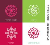 vector logo design template and ... | Shutterstock .eps vector #500345113