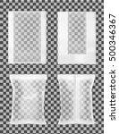 transparent packaging for... | Shutterstock .eps vector #500346367