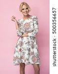fashion photo of a beautiful... | Shutterstock . vector #500356657