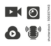 video camera icons  live icons | Shutterstock .eps vector #500357443