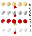 set of gold  silver  red and... | Shutterstock .eps vector #500366167