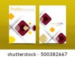 modern square business annual... | Shutterstock .eps vector #500382667