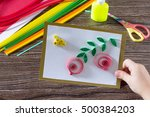 the child create greeting cards ... | Shutterstock . vector #500384203