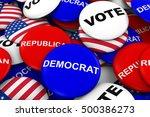 us elections concept   democrat ... | Shutterstock . vector #500386273