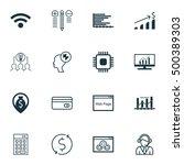 set of 16 universal editable... | Shutterstock .eps vector #500389303