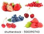 blueberries  strawberries ... | Shutterstock . vector #500390743