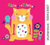 happy cat cartoon. cute cat... | Shutterstock .eps vector #500415007