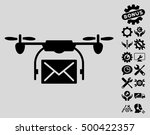 mail delivery drone pictograph... | Shutterstock .eps vector #500422357