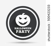 halloween pumpkin sign icon.... | Shutterstock .eps vector #500423233