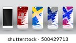 christmas templates for case... | Shutterstock .eps vector #500429713