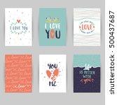 love card banner. valentines... | Shutterstock .eps vector #500437687