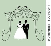 vintage graphic chuppah.... | Shutterstock . vector #500447047