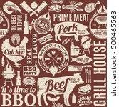 retro styled typographic vector ... | Shutterstock .eps vector #500465563