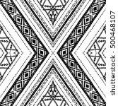 ethnic seamless rhombus pattern ... | Shutterstock .eps vector #500468107
