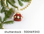 christmas toy and fir tree | Shutterstock . vector #500469343