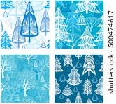 seamless pattern with winter... | Shutterstock .eps vector #500474617