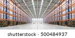 panorama of an empty huge... | Shutterstock . vector #500484937