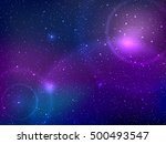 space background with stars and ...