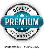 blue premium quality badge ... | Shutterstock .eps vector #500498527