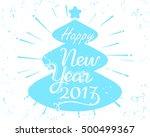 vector eps 10. vintage card... | Shutterstock .eps vector #500499367