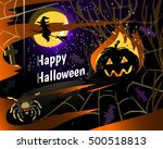 halloween party greeting card... | Shutterstock .eps vector #500518813