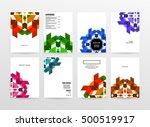 geometric background template... | Shutterstock .eps vector #500519917